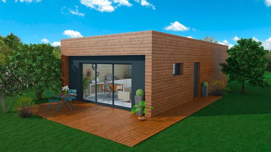 Maison A Ossature En Bois Plain Pied Wood 3 Surface Habitable 63