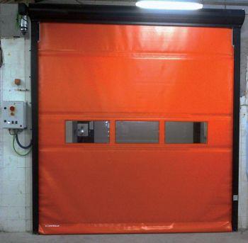 Porte rapide PR / souple / à enroulement / en plastique / utilisation intérieure et extérieure