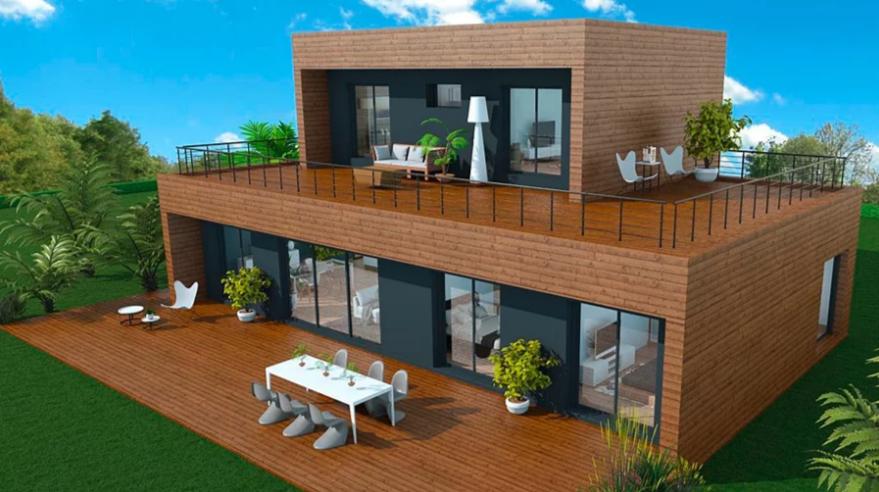 Maisons a ossature en bois tous les fournisseurs habitat bois habitation bois batiment for Construction en bois 6 etages