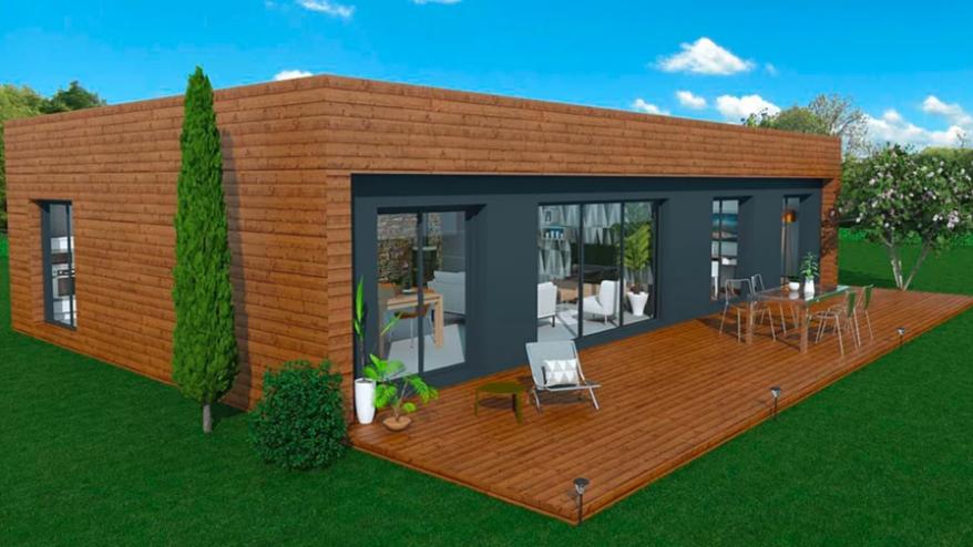 Maison A Ossature En Bois Plain Pied Moov 4 Surface Habitable 114