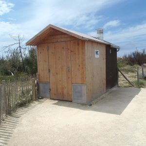 Toilettes publiques extérieures saniter / 2 cabines / 4 x 2 x 2.5 m