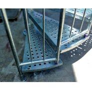 Escalier hélicoïdal stairbat - acbi - hauteur des marches 185 mm - largeur de passage 800 ou 900 mm - diamètre 1880 et 2080 mm