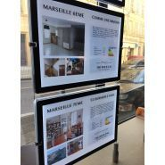 Agence immobiliere moduled s2  double faces magnetique