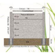 Clôture gravillons lavés ton pierre - dbv - poids 80 kg