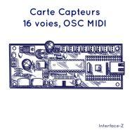 CARTE CAPTEUR - 16 VOIES - OSC-MIDI