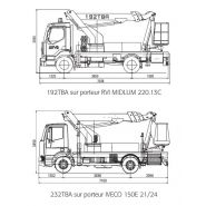 192 tba camion nacelle - fe group - 19.5m