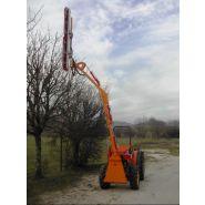 Taille-haie hydraulique ta 400 - kirogn - hauteur de coupe horizontale maxi 4 m, verticale maxi 6.30 m