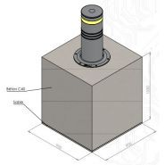 Borne escamotable automatique de défense borne sumo-r auto-e (k4)