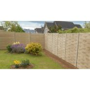 Clôture en béton imitation bois - clôture imagine