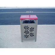Jan-0053 - poubelle publique - husson collectivites (sa) - corbeille athena flowers 65 l