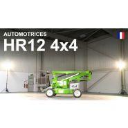 Hr12 4x4 nacelle élévatrice automotrice articulée - niftylift - hauteur de travail 12.2m