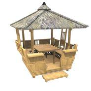 Paillote bambou nipahut modèle panay