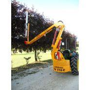 Taille-haie hydraulique th 550r - kirogn - hauteur de coupe horizontale maxi 5.50 m, verticale maxi 8.40 m