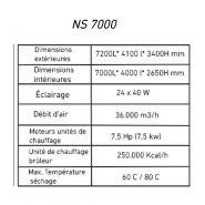 Cabine de peinture  automobile ns7000