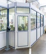 Cloison amovible vitrée ou pleine clo5