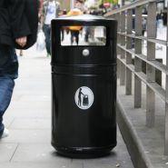 Métal guppy - poubelle publique - glasdon - 85 litres