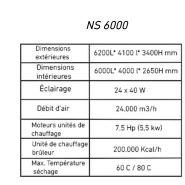 Cabine de peinture automobile ns8000