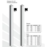 Clôtures en béton mur plein strié - bvn - poids départ 65 à 95 kg