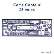 CARTE CAPTEUR - 28 VOIES - MIDI