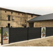 Infino - clôture pvc gris anthracite brise-vue - la clôture française - disponible en 10 hauteurs comprises entre 0,20 m et 1,79 m