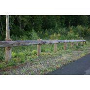 Bois rd7 - glissière de sécurité - rousseau - empêche les motards de passer sous la glissière