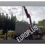 Cuve béton 7500 litres    rehausse    entrée et sortie