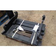 Fourche à palette pour telescopique chargeuse et skid steer