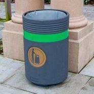 Admiral - poubelle publique - glasdon - 85 litres