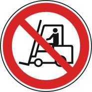 Signalétique adhésive / signes d'interdiction