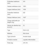 238932w - armoire de sécurité coupe-feu select - denios - corps anthracite, portes en gris, 3 étagères