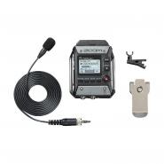 Zoom f1-lp enregistreur de terrain 2 pistes avec micro lavalier