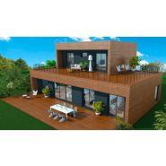 Maison à ossature en bois à étages roof 6 / surface habitable 151 m² / surface brute 214 m² / 6 pièces / toit plat