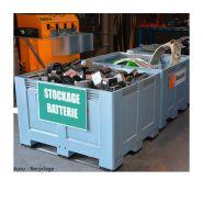 Caisse-palette renforcée batteries, bio-déchets, fers et métaux (1.000 kg/unité)