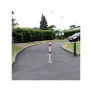 Poteau rabattable anti-circulation - dmc - hauteur hors sol : 930 mm