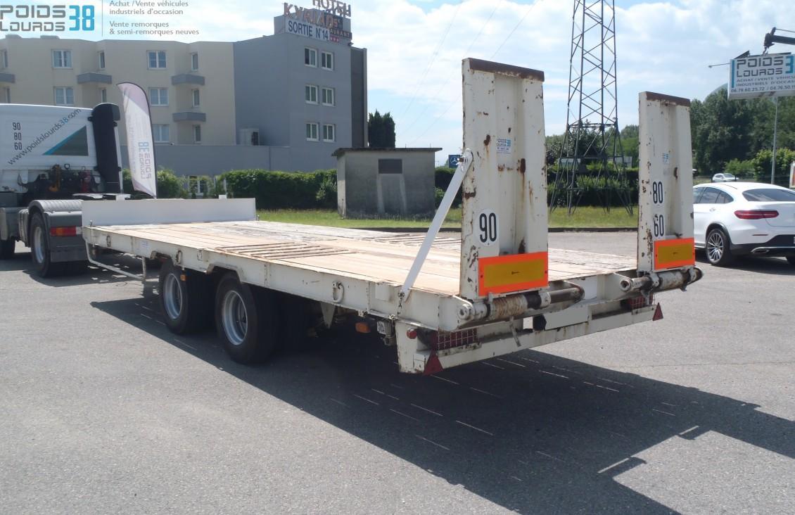 Remorque Porteengins Plateau Basculant Essieux Louault - Porte engin occasion 2 essieux