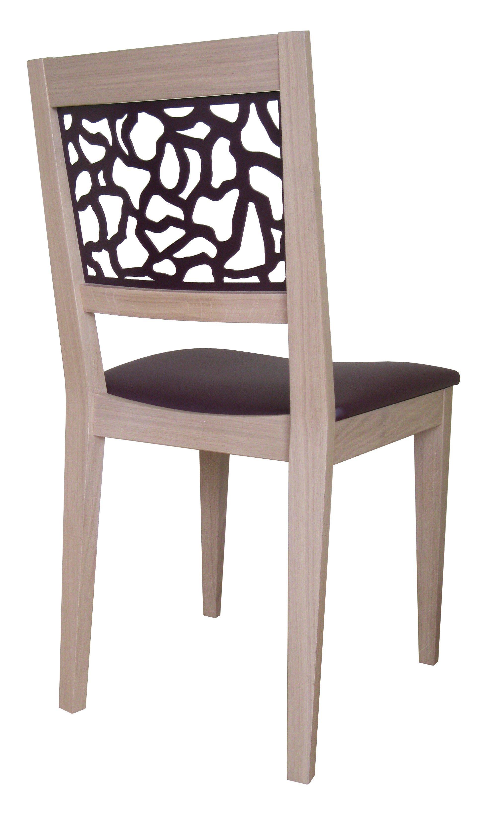 chaise jennyfer en bois massif et metal. Black Bedroom Furniture Sets. Home Design Ideas