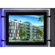 Cristal - porte affiche led - displaylight - portrait a3