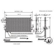 Rombo - clôture métallique - fils - entraxe 1500 mm