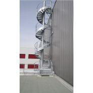 Escalier hélicoïdal yso-industrie - ysofer esca - diamètre 1400 à 3800 mm
