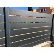 Clôture en aluminium - my cloture - lame 125mm avec ajour standard de 15mm