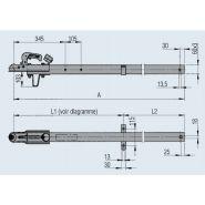 200 350 07 - timon pour remorque - dexko global - version a1 cote a 2 835 mm