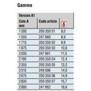 200 350 01 - timon pour remorque - dexko global - version a1 cote a 1395 mm