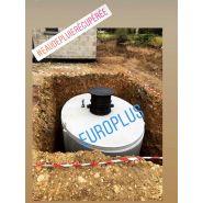 Cuve béton 7500 litres avec filtre intégré   rehausse   entrée et sortie