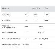 Gtw-2030 t5 50 hz triphasé groupe électrogène industriel - genelec -2033 kva