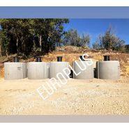 Cuve béton 5000 litres    réhausse pivotante avec entrée et sortie