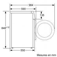 Wm14b211ff iq100  lave-linge professionnel - bsh electroménager - 1400 trs/min avec variospeed