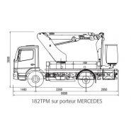 162 tpm camion nacelle - ptac 7.5t
