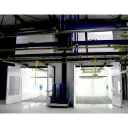 Cabine de peinture liquide - ventilation verticale (vs - cabine fermée)