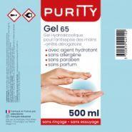 Gels hydroalcooliques - purity - flacon avec pompe de 500ml