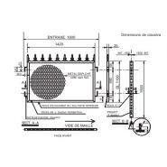 Roberta - clôture métallique - fils - entraxe 1500 mm